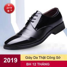 Giày da thật, giày nam đẹpGM569, mẫu mới, siêu HOT 2019. Hàng nhập khẩu, BH uy tín 1 đổi 1