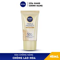Kem Chống Nắng Dưỡng Da Chống Lão Hóa Niveasun Triple Protect Anti Wrinkle Spf50+ Pa+++ 40Ml – 85546