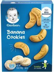 Bánh quy Gerber vị Chuối ngọt ngào từ ngũ cốc nguyên hạt cho bé từ 12 tháng tuổi