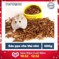 Sâu Gạo – Thức Ăn Cho Hamster, Nhím, Sóc và Thú Nhỏ (500g)