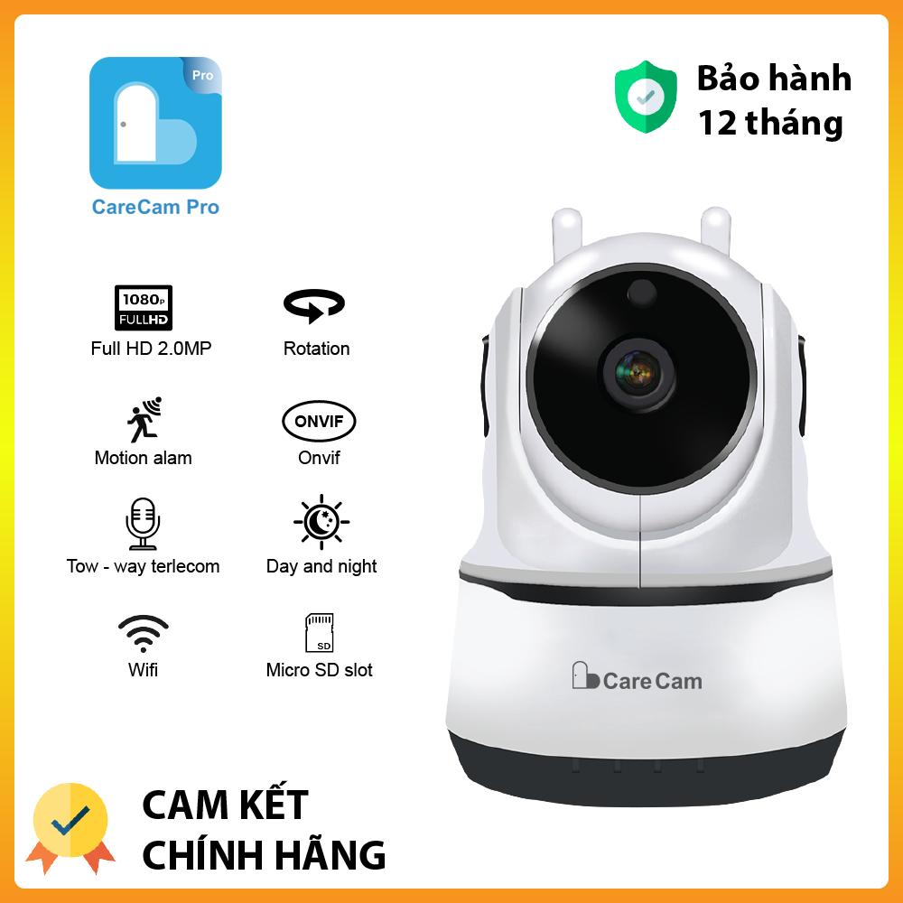 [Có video] Tùy chọn combo thẻ128GB Chính Hãng Camera ip wifi giám sát Carecam 2 râu FullHD 2.0MP hồng ngoại cảnh báo chuyển động, xoay 360 khu vực quan sát rộng, an ninh cao – Bảo hành 12 tháng