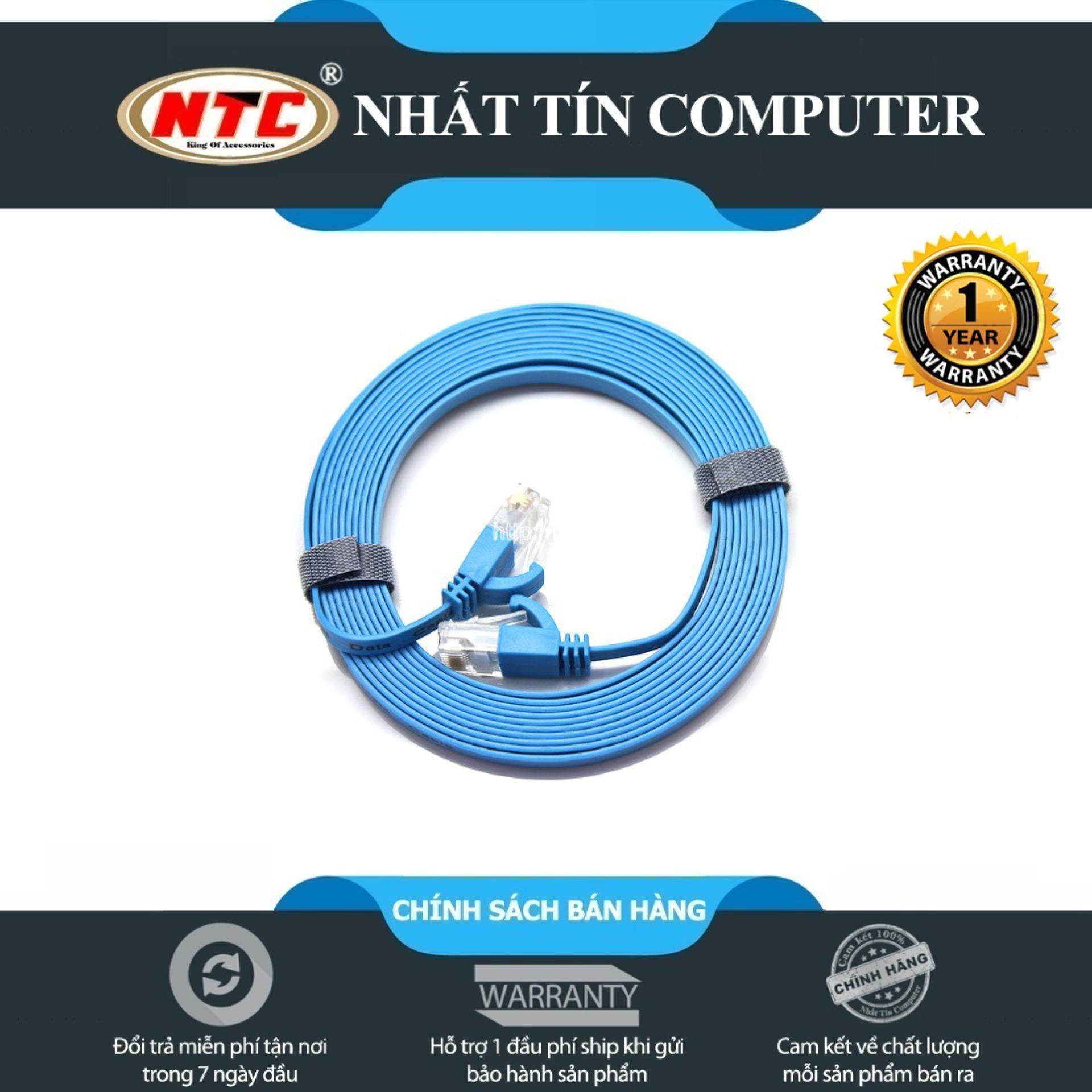 Cáp mạng UTP Cat 6 Dtech 67F50 dài 5m - hỗ trợ tốc độ cao (bảo hành 12 tháng)