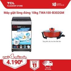 Máy Giặt TCL 10Kg Lồng Đứng. TWA100-B302GM Dòng Máy. Giặt Cao Cấp Với Thiết Kế Lồng Giặt Tổ Ong Siêu Rộng Chế Độ Vắt Cực Khô. Hàng Chính Hãng . Bảo Hành 2 Năm.