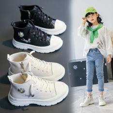 PHOM TO Giày bé gái giày boot trẻ em hoa cúc xinh xắn phối đồ cực xinh đế mềm đi êm chân