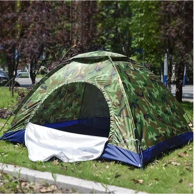 Lều cắm trại dã ngoại ngoài trời 2-4 người, lều phượt du lịch vải dù rằn ri tiện lợi, chống thấm nước dễ dàng gấp gọn, kích thước 2m x 1.5m x 1.3m bst1188
