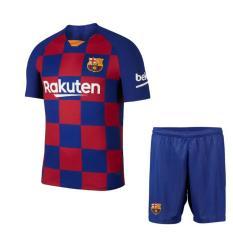 [RẺ VÔ ĐỊCH] Bộ Quần áo Bóng Đá CLB Barca sọc ca rô (Xanh sọc) Home Kit 2019/20 – Vải thun lạnh xịn Mặc mát