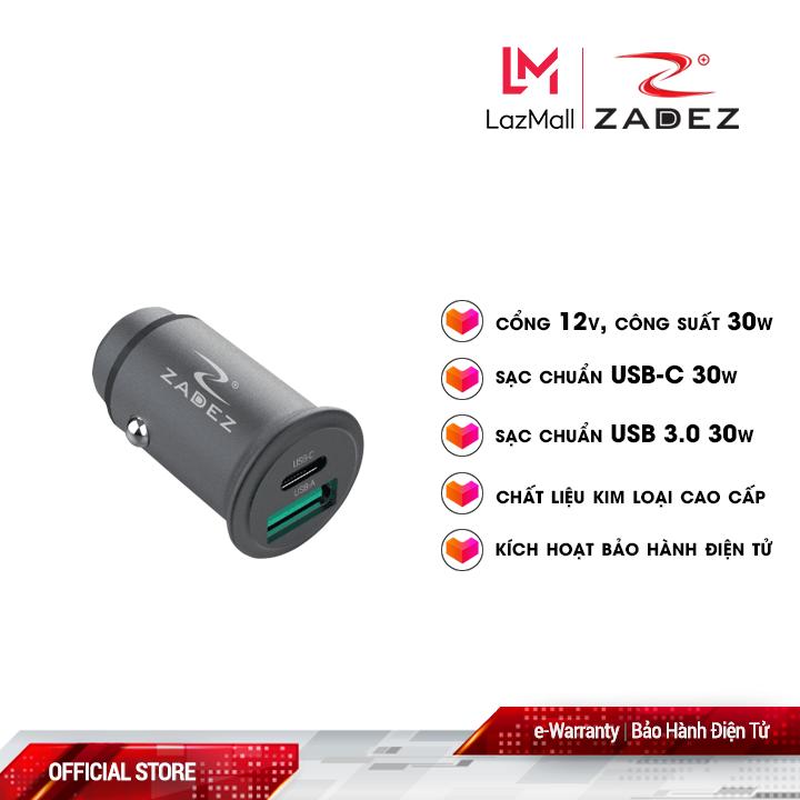 Sạc xe hơi nhanh Zadez 30W ZCA-4832