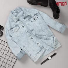 áo khoác jean nam XANH NHẠT BẠC TRƠN 50011