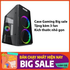 Case PC Gaming rẻ gọn đẹp sẵn 3 fan LED