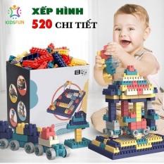 ĐỒ chơi trẻ em XẾP HÌNH LEGO cao cấp cho bé trai và gái. Chất liệu nhựa Nguyên Sinh ABS cao cấp, 520 chi tiết . Giúp phát triển tư duy, trí tưởng tượng, tăng khả năng ghi nhớ