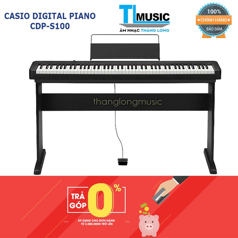 (Hỗ trợ trả góp 0%) Đàn Piano Điện Tử 88 phím Casio CDPS100 – Digital Piano Casio CDP-S100 – Kết nối bluetooth + Tặng khăn phủ
