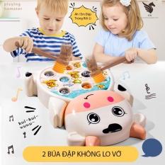 ✺♨ Bộ đập chuột đồ chơi nhựa có nhạc vui nhộn đáng yêu có tặng kèm pin
