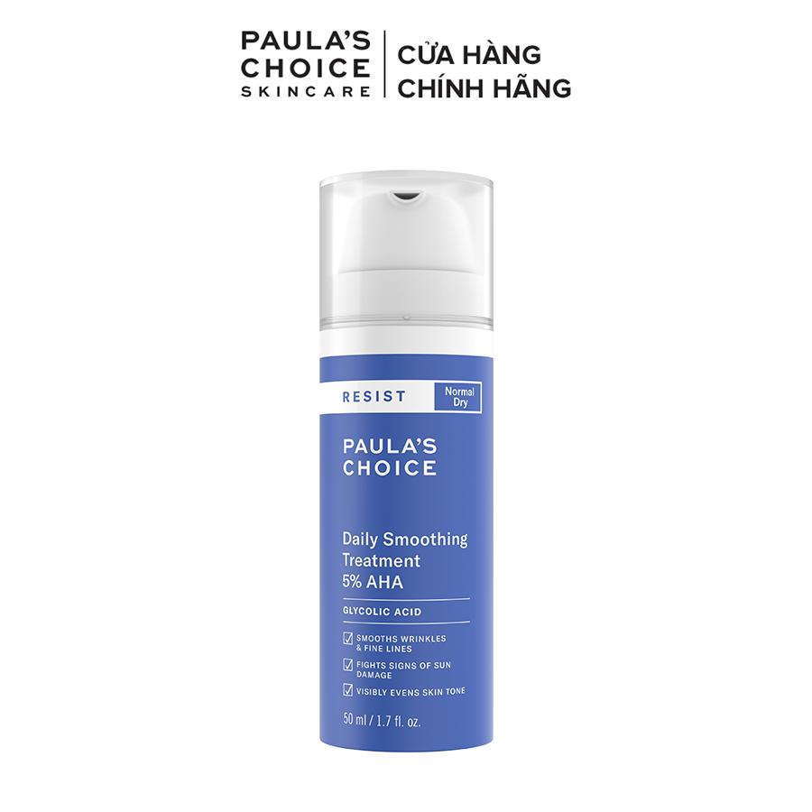 Kem tẩy da chết bề mặt làm sáng mịn và đều màu da Paula's Choice RESIST Daily Smoothing Treatment With 5% AHA 50 ml 7660