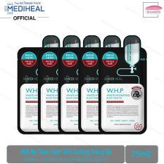 Combo 5 Mặt nạ Than hoạt tính Dưỡng Trắng Da Mediheal W.H.P White Hydrating Charcoal-Mineral Mask 25ml x5