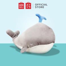 Cá voi nhồi bông Miniso (Xám)