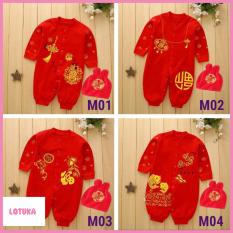 Bộ body quần áo trẻ em dài tay Cotton Tết Tài Lộc cho Bé Trai Bé Gái BTE1