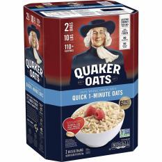 [Mẫu Mới] Thùng Yến Mạch Quaker Oats Quick One Minute Mỹ 4.52kg