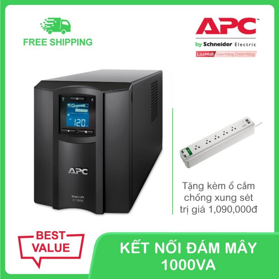 Bộ lưu điện thông minh APC Smart-UPS C 1000VA LCD 230V SMC1000IC