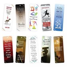 Bộ 10 Bookmark Song Ngữ Truyền Cảm Hứng Đọc Sách, Hình Ảnh Đẹp Sắc Nét Với Nội Dung Được Chọn Lọc Khác Nhau, Chất Liệu Giấy Cứng Bền Đẹp