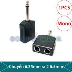 Đầu chuyển jack 6.5/6.35mm ra 2 đầu 6.5/6.35mm âm, dùng sử dụng 1 Microphone cùng 1 lúc
