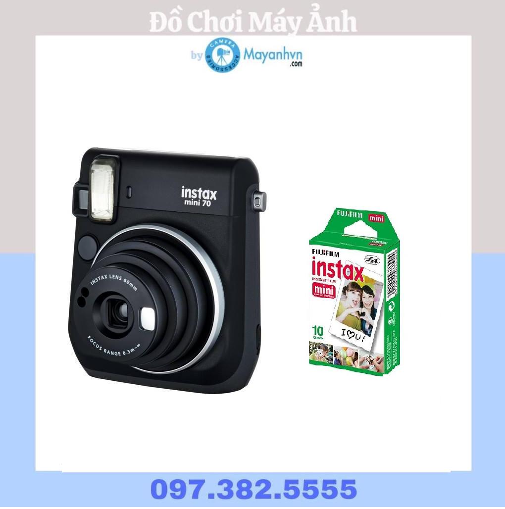 Máy chụp ảnh lấy ngay Fujifilm Instax Mini 70 Màu Đen – tặng kèm 10 tấm film instax mini