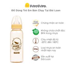 Bình sữa PPSU chống đầy hơi Cổ thường và Cổ rộng Piyo Piyo, nhập khẩu Đài Loan