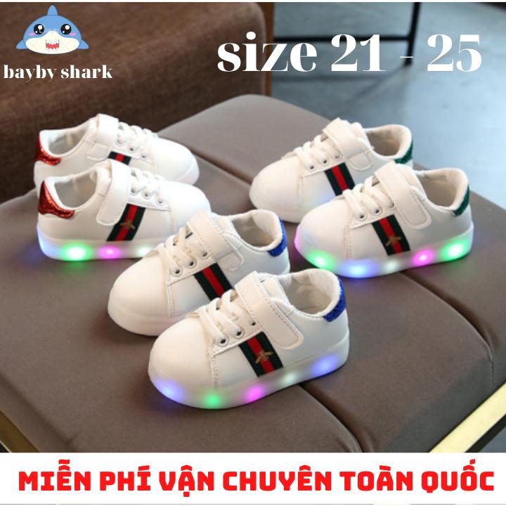 [ FREE SHIP ] Giày sneaker nam cho bé trai , giày nam cho bé giày thể thao có đèn led phát sáng cho bé trai và bé gái cho bé từ 1 đến 6 tuổi