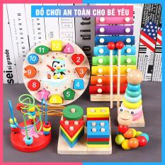 Đồ chơi gỗ cho bé [SIÊU RẺ] Combo 6 món đồ chơi phát triển trí tuệ, giáo cụ montessori