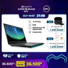 [TRẢ GÓP 0%] Laptop Dell G5 15 5505 15.6 inches FHD (AMD Ryzen 5 4600H 3.00GHz / 2X4GB / 512GB SSD / AMD Radeon RX 5600M 6GB / OfficeHS19 / McAfeeMDS / Windows 10 Home) l Silver l 70252801 l HÀNG CHÍNH HÃNG