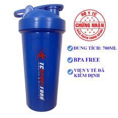 Bình lắc Shaker pha sữa cho người tập GYM – Bình nước thể thao Shaker – 700 ml