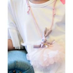 Vòng dây đeo cổ cho bé PINK059 Pink Xinh Decor dây búp bê thỏ xinh