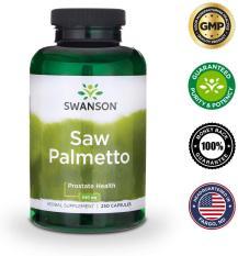 Viên uống Saw Palmetto hỗ trợ sức khỏe tuyến tiền liệt đường tiết niệu và mọc tóc 250 viên
