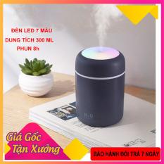 Máy xông tinh dầu, máy phun sương nano mini ô tô 3in 1( tặng lõi bông), máy khếch tán tinh dầu làm đèn ngủ, phun sương tạo ẩm không khí, đèn led 7 màu, sạc USB, dung tích 300 ml shop [Akycare]