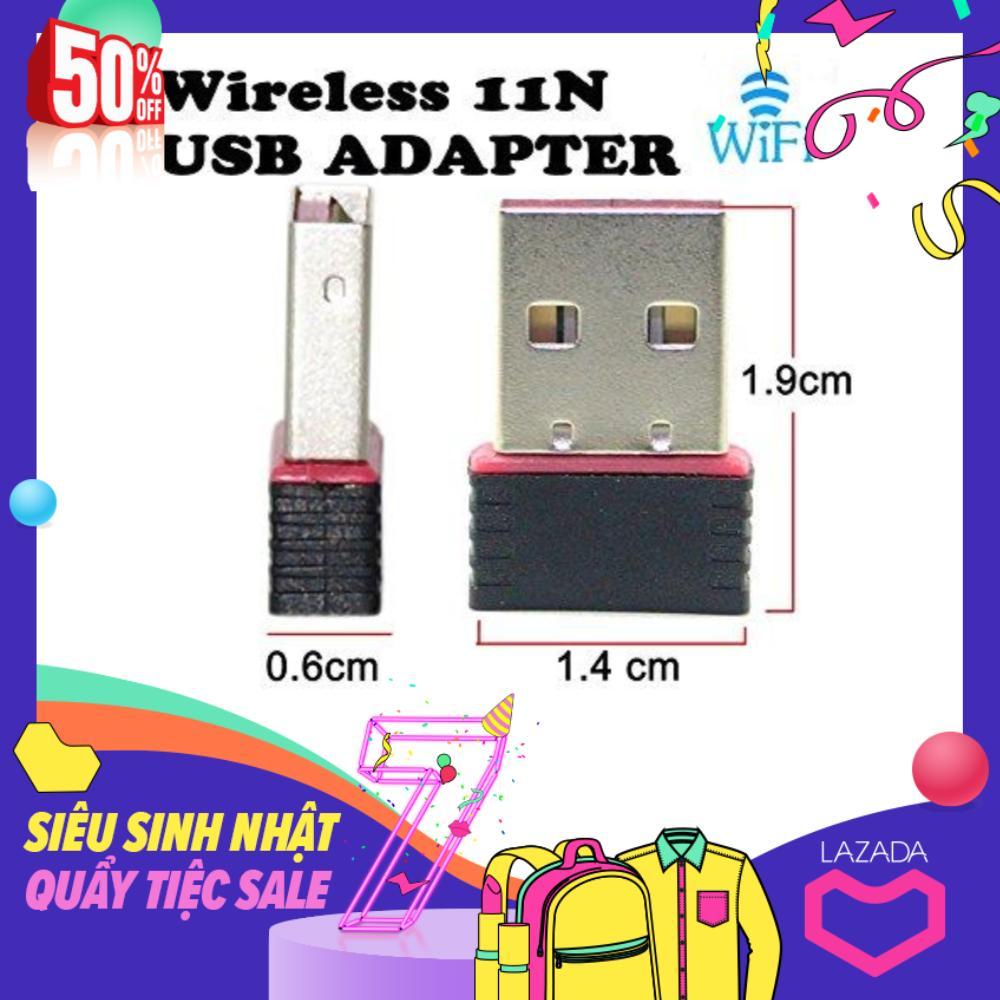 USB thu sóng Wifi 802.11N siêu nhỏ cực gọn tốc độ 150Mbps