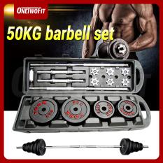 OneTwoFit tạ tập tay barbell Weight 50kg (4x5kg,4×2.5kg,6×1.25kg,4×0.5kg) OT043. Bộ đĩa tạ tập gym 50kg