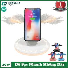 Đế Sạc Nhanh Đôi Cánh Thiên Thần Không Dây Bộ Sạc 10W 3.0 Sạc Nhanh Cho Iphone Samsung Cho Huawei Oppo Xiaomi ( Hàng Nội Địa ) Đế sạc không dây Đế sạc không dây Samsung Đế sạc không dây Anker