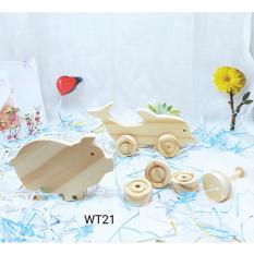 Đồ chơi gỗ bộ thú 2 con WT021