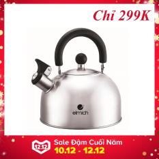Ấm đun nước dùng cho bếp từ Elmich, ấm nước làm bằng INOX 304 không gỉ, dễ lau chùi, an toàn cho sức khỏe