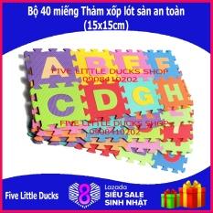Bộ 40 tấm Thảm xốp lót sàn an toàn cho bé – 15x15cm – xuất xứ Việt Nam