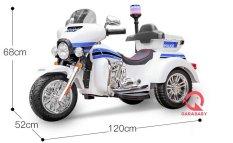 Xe máy điện moto điện cảnh sát cho bé SMT-111 bình 12V, 2 động cơ