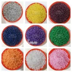 4000 Hạt bẹt (cườm nhựa)giả trai 3mm giá rẻ gói 100gr