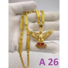 ( BỘ VÀNG 24K ) Dây chuyền nam, Vòng cổ rồng – Kèm mặt đại bàng cực hót ( Loại To )
