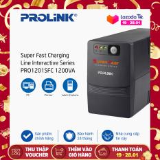Bộ nguồn cấp điện liên tục PROLINK 1200VA Line Interactive tích hợp bộ AVR, sạc siêu nhanh, điện áp đầu vào rộng, cung cấp nguồn dự phòng ổn định cho các thiết bị gia đình, văn phòng