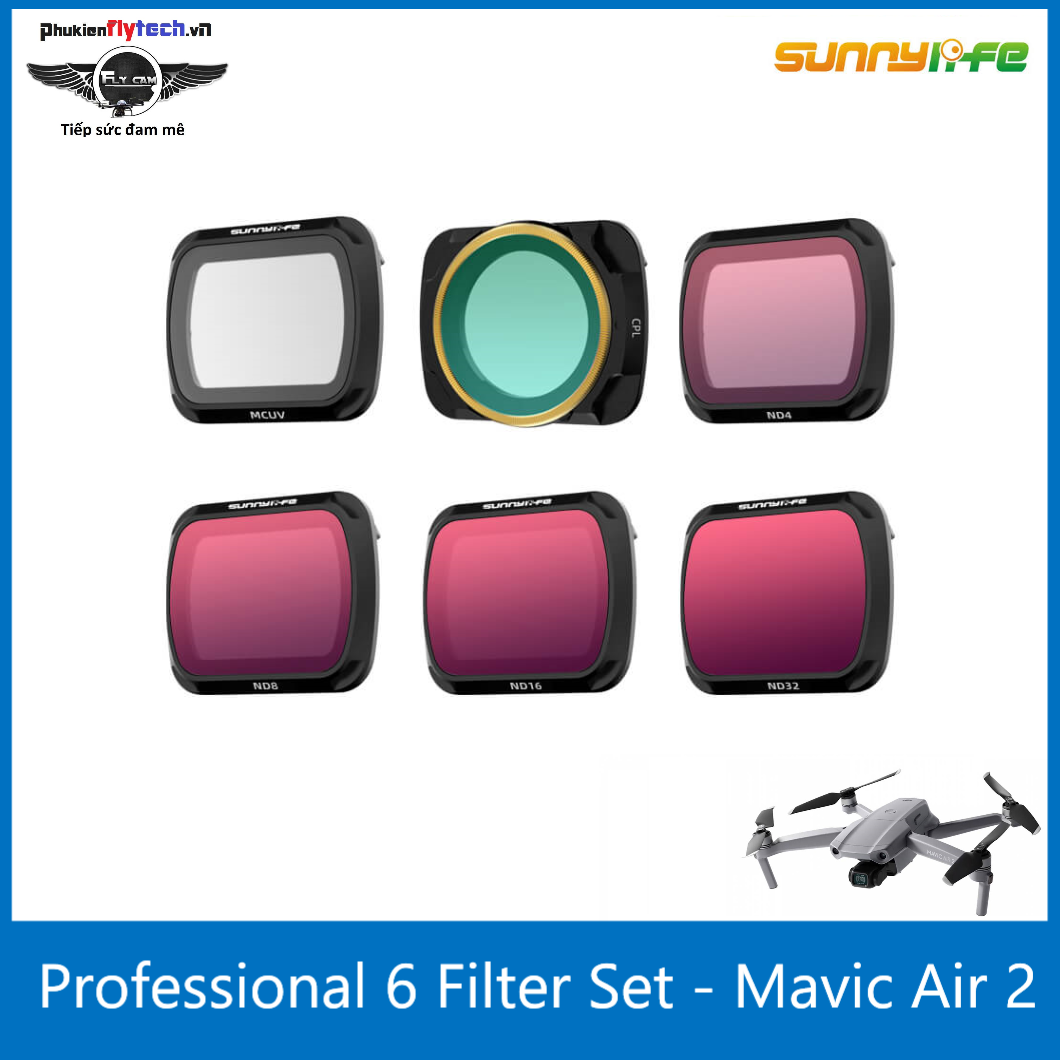 Combo 6 filter Mavic Air 2 – Sunnylife