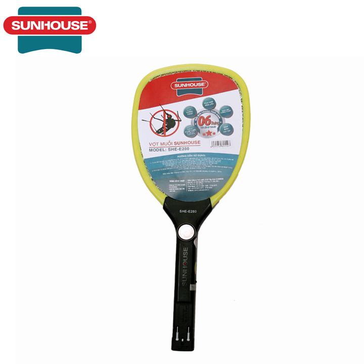 Vợt Muỗi Sunhouse SHE-E280 - Vợt muỗi điện - Vợt bắt muỗi - Vợt đánh muỗi - Bảo hành 1...