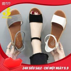 Mẫu HOT⚡ Giày Sandal Nữ Da Mềm Gót Vuông 3,5CM Thiết Kế Trẻ Trung – 2923