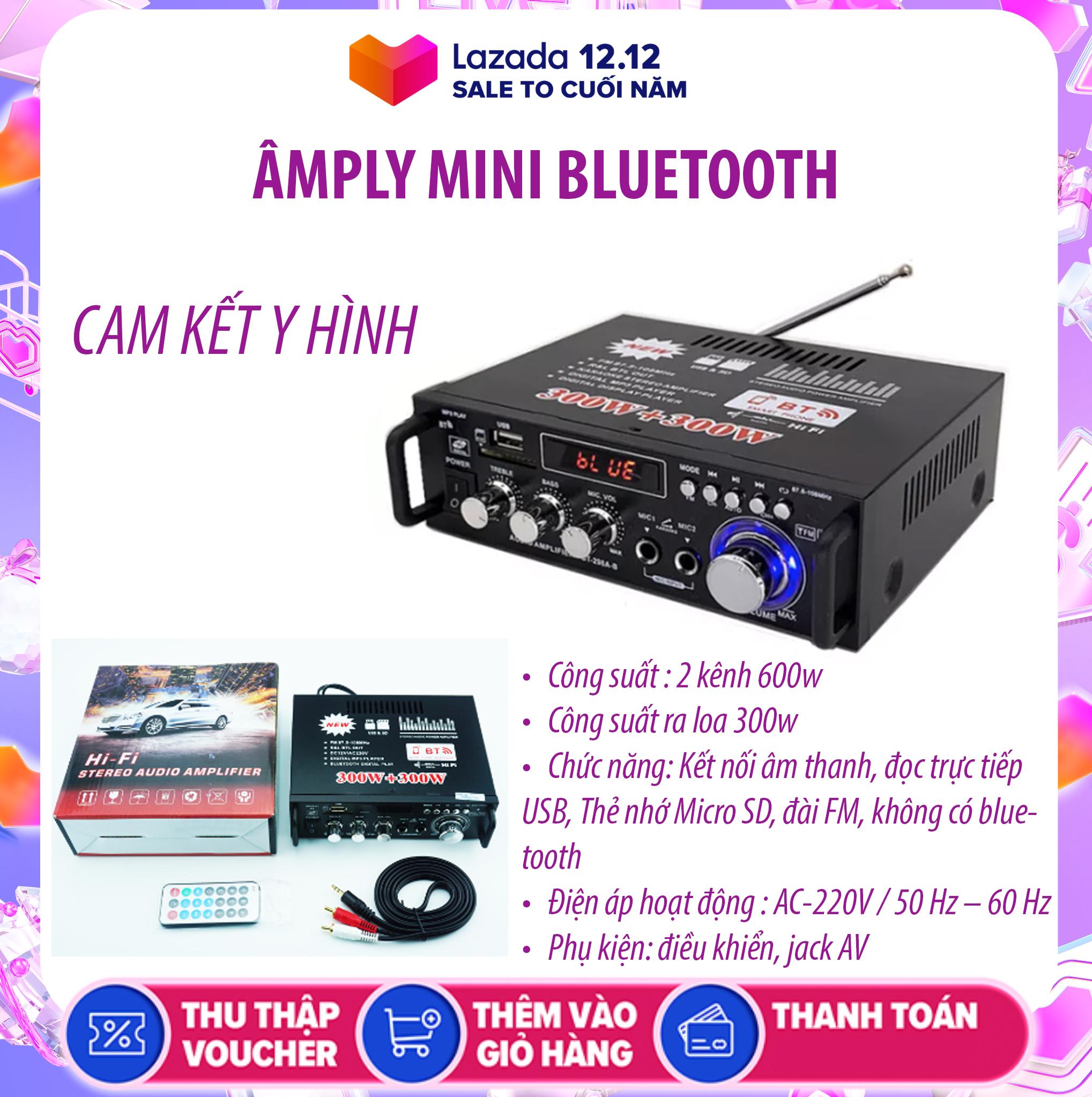 Amply MINI Bluetooth GIÁ RẺ công suất 2 KÊNH 600W – Bass khỏe âm thanh sống động ,Tự Động Lọc Nhiễu, Hỗ Trợ Khe Cắm Thẻ Nhớ, Trang Bị Điều Khiển Từ Xa, Dễ Dàng Di Chuyển – CÁCH SỬ DỤNG AMPLY BT298A