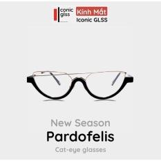 Gọng kính cận mắt mèo PARDOFELIS chất liệu nhưa Acetate bọc lõi thép cao cấp màu vàng đen phụ kiện thời trang hot trend