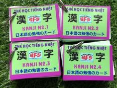 Thẻ học tiếng nhật N2 ( Văn Phạm, Từ vựng, Kanji ) – Trọn bộ 7 Xấp