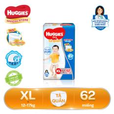 Tã/bỉm quần Huggies Super Jumbo XL62 (Đệm mây co giãn) – Gói 62 miếng (Cho bé 12kg – 17kg)